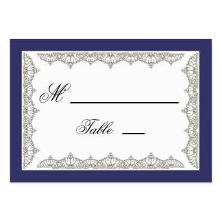 Tarjetas reales complejas del lugar del boda de la tarjetas de visita grandes