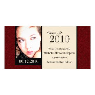 Tarjetas reales de la foto de la invitación de la tarjeta personal con foto