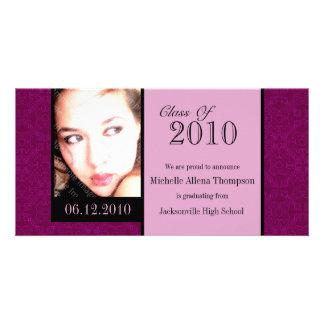 Tarjetas reales de la foto de la invitación de la tarjetas personales con fotos