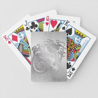 Tarjetas reales del juego del dragón del oro - 1C  Baraja Cartas De Poker