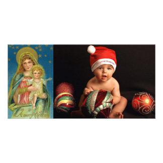 tarjetas religiosas de la foto del vintage tarjetas personales con fotos