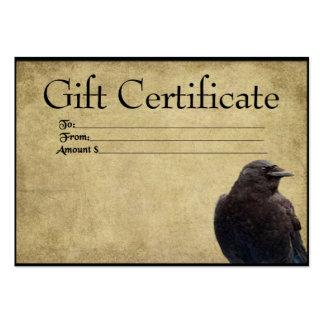 Tarjetas remilgadas de un del cuervo solitario tarjetas de visita grandes
