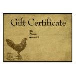 Tarjetas remilgadas del vale del gallo solitario d plantillas de tarjetas de visita