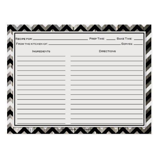 Tarjetas resistidas Chevron negras grises de la re Tarjetas Postales