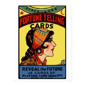 Tarjetas retras de la adivinación del vintage de tarjeta postal