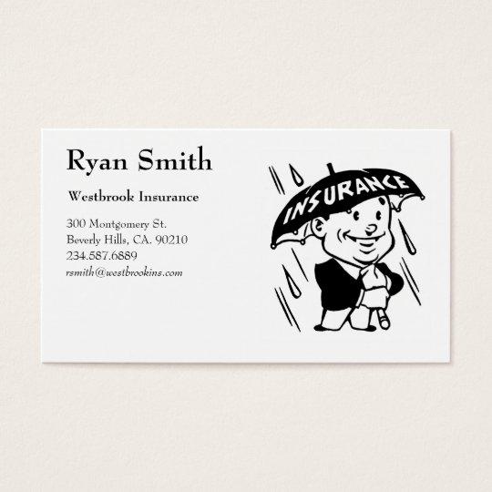 Tarjetas retras del negocio de seguros del estilo tarjetas de visita