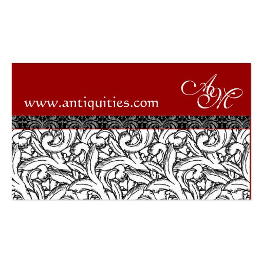 Tarjetas rojas, blancas y negras del renacimiento  tarjetas de visita