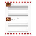 Tarjetas rojas de la receta del postre de la teja flyer a todo color