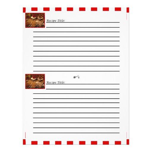 """Tarjetas rojas de la receta del postre de la teja folleto 8.5"""" x 11"""""""