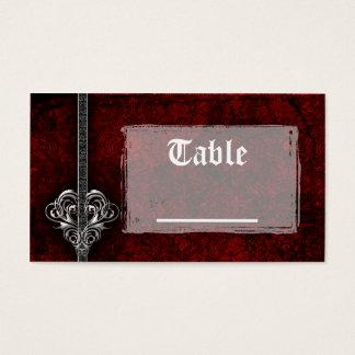 Tarjetas rojas de la tabla de la recepción del