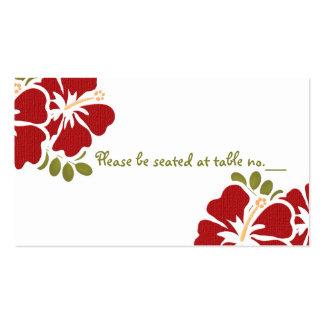 Tarjetas rojas del lugar de la tabla del boda del  tarjeta de visita