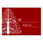 Tarjetas rojas del lugar del boda del invierno plantillas de tarjetas de visita
