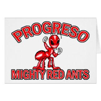 Tarjetas rojas poderosas de las hormigas de Progre