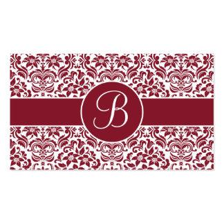 Tarjetas rojas y blancas del registro de regalos d tarjetas de visita