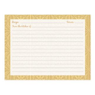 Tarjetas romanas de la receta de las tejas tarjeta postal