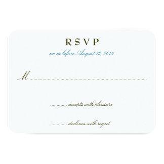 Tarjetas románticas de RSVP de la invitación del