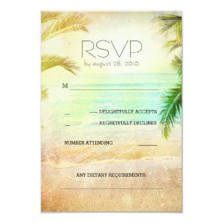 """tarjetas románticas de RSVP de la playa de la Invitación 3.5"""" X 5"""""""