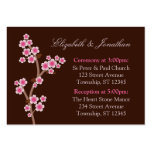 Tarjetas rosadas de la dirección del boda de Brown Plantilla De Tarjeta De Visita