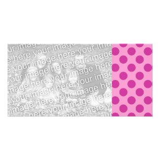 Tarjetas rosadas de la foto tarjetas personales