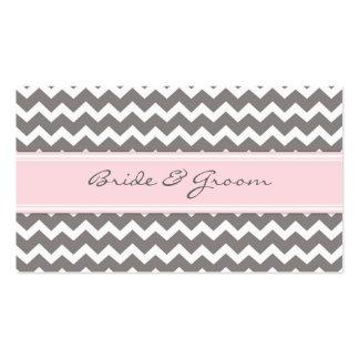 Tarjetas rosadas del cubierto de la tabla del boda tarjeta de negocio