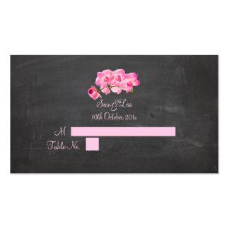 Tarjetas rosadas del lugar de las orquídeas de Pix