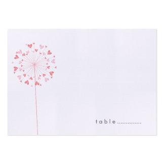 Tarjetas rosadas del lugar del boda del verano del tarjetas de visita grandes