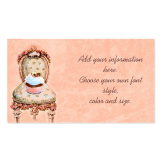 Tarjetas rosadas del perfil del negocio de la tarjetas de visita