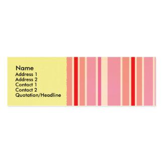 Tarjetas rosadas del perfil del Striper de caramel Plantilla De Tarjeta Personal