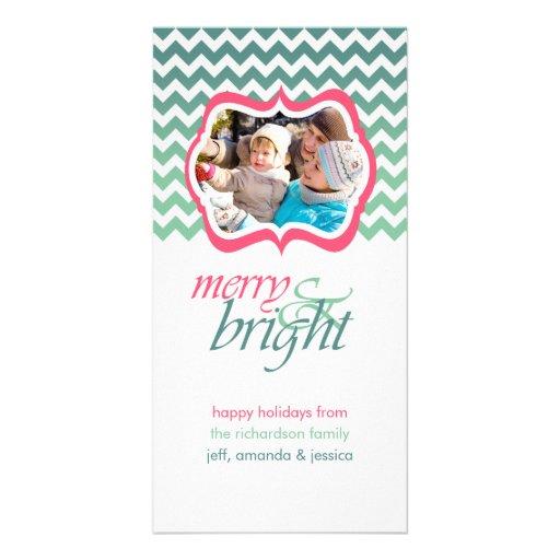 Tarjetas rosadas felices y brillantes de la foto tarjeta fotografica personalizada