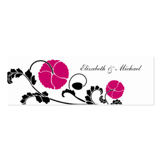 Tarjetas rosadas oscuras elegantes del registro de tarjetas de visita mini