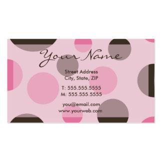 Tarjetas (rosadas) retras del perfil de los puntos tarjetas de visita