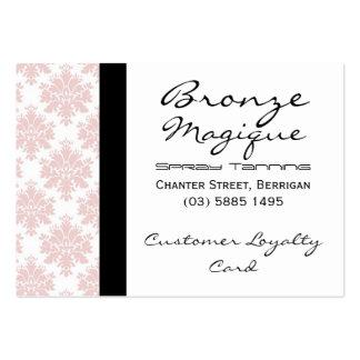Tarjetas rosadas suaves de la lealtad del cliente tarjetas de visita