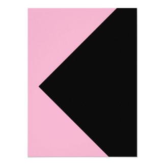 Tarjetas rosadas y negras de la invitación de la invitación 13,9 x 19,0 cm