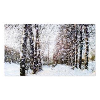 Tarjetas rurales de la foto del paisaje de la tarjetas de visita
