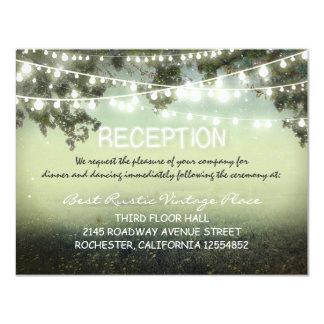 tarjetas rústicas de la recepción nupcial del invitación 10,8 x 13,9 cm
