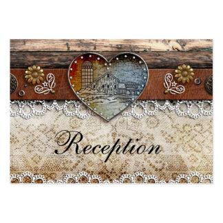 Tarjetas rústicas de la recepción nupcial del país plantilla de tarjeta personal