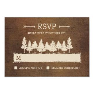 """Tarjetas rústicas de la respuesta de RSVP /Wedding Invitación 3.5"""" X 5"""""""
