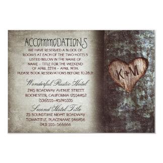 tarjetas rústicas de los alojamientos del boda del invitación 8,9 x 12,7 cm