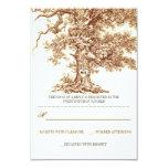 tarjetas rústicas de RSVP del árbol que se casan Invitaciones Personales