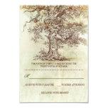 tarjetas rústicas de RSVP del árbol que se casan Invitación