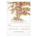 tarjetas rústicas de RSVP del árbol que se casan v Invitaciones Personales