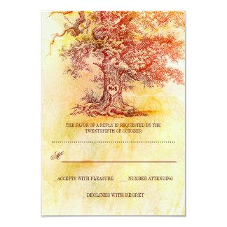 """tarjetas rústicas de RSVP del árbol viejo de la Invitación 3.5"""" X 5"""""""