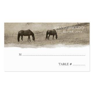 Tarjetas rústicas del asiento de la granja del tarjetas de visita