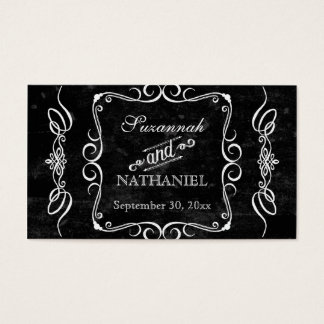 Tarjetas rústicas del asiento de la tabla del tarjetas de visita