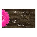 Tarjetas rústicas del lugar del boda de la plantilla de tarjeta personal