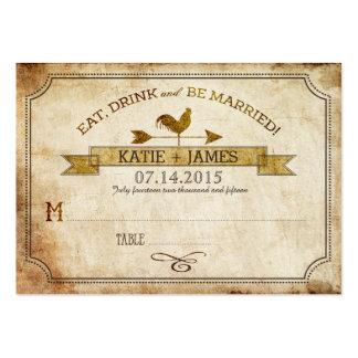 Tarjetas rústicas del lugar del boda del país del tarjetas de visita grandes