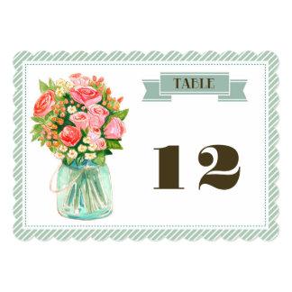 """Tarjetas rústicas del número de la tabla del boda invitación 5"""" x 7"""""""