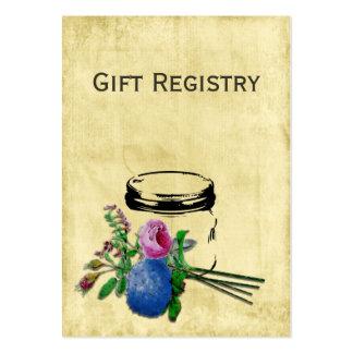 tarjetas rústicas del registro de regalos del tarr