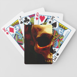 Tarjetas sangrientas del póker del skul cartas de juego