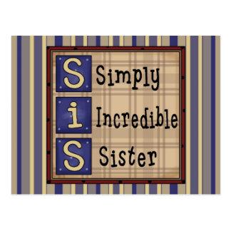 Tarjetas simplemente increíbles de la hermana, postales